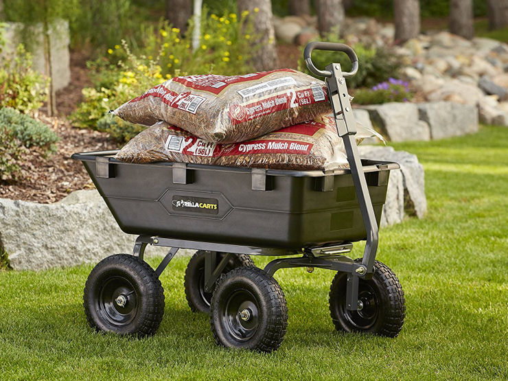 Utility Carts with Pneumatic Wheels, Gorilla Cart for landscaping