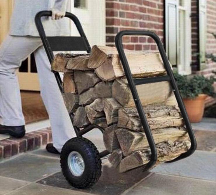 Firewood Cart with wheels, Firewood storage rack