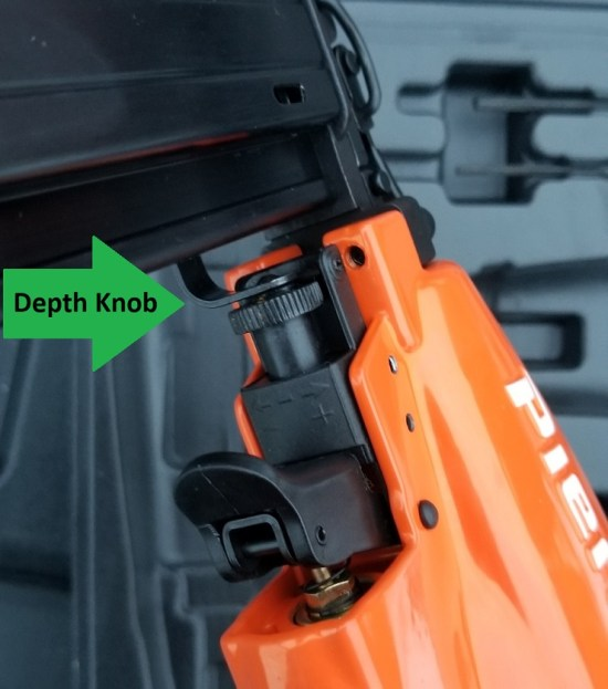Increase or Decrease nail depth adjustment know