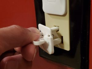 Electrical Outlet Plugs with Easy to Remove Tab