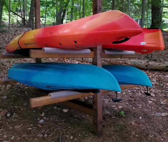 DIY Kayak Storage Rack image