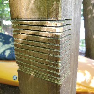 Mortise Notches in Wood with Circular Saw Kayak Rack Build
