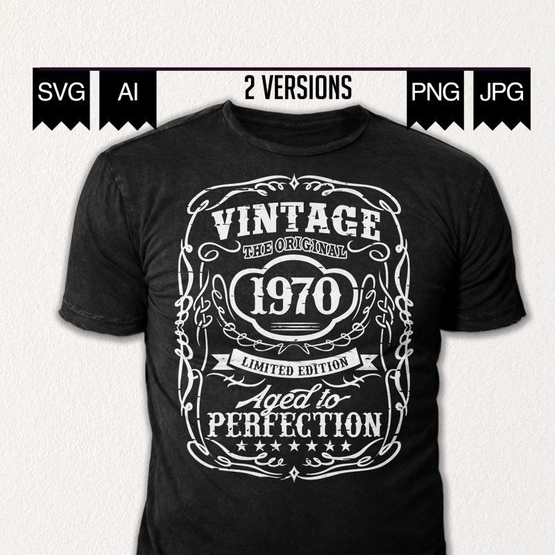 Vintage 1970 S 50th Birthday Shirt Design T Shirt Design Template Buy T Shirt Designs