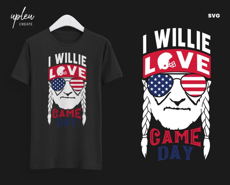 Download I Willie Love Game Day SVG,I Willie Tshirt, Willie Nelson ...