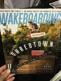 Shredtown's Chris Abadie cover of Wakeboarding Mag