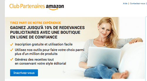 programme d'affiliation partenaire amazon