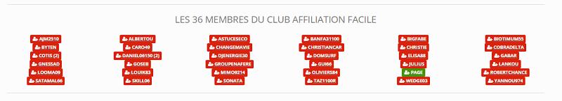 Membre club affiliation facile