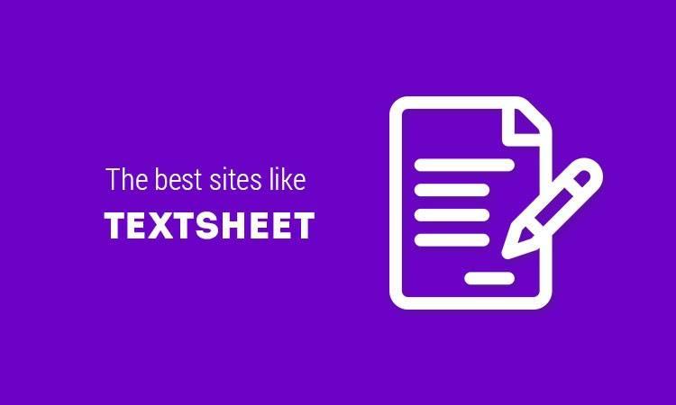 sites like textsheet