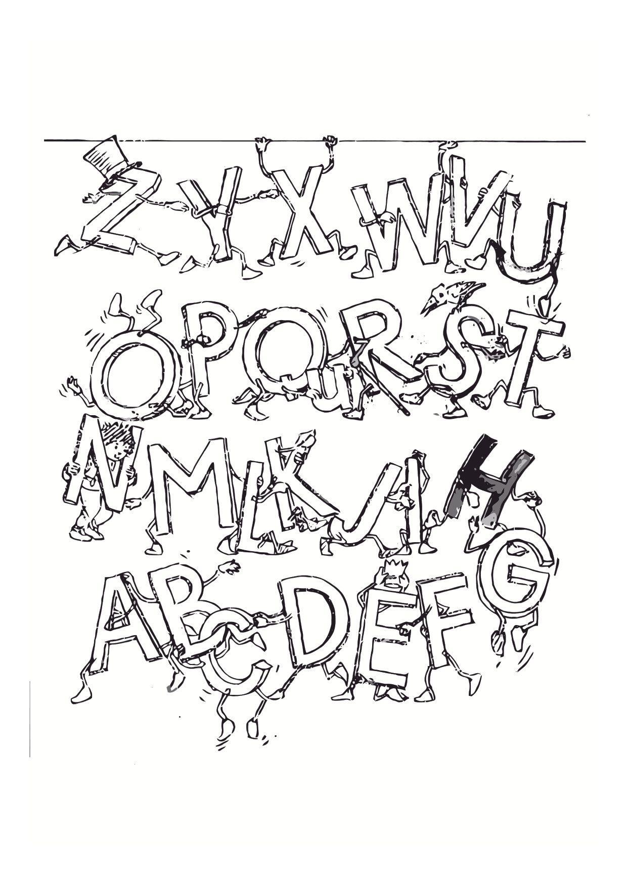Coloriage Dessiner Lettre Alphabet Animaux