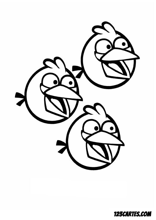 Angry Birds Hal Coloring Pages