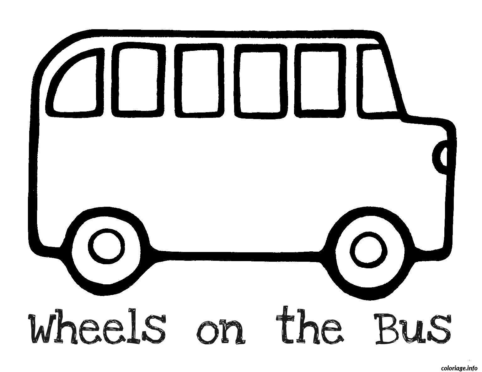 30 Dessins De Coloriage Bus Enfant A Imprimer
