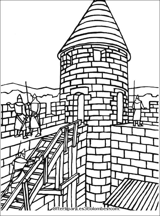 Dessin A Colorier Chateau Fort Maternelle