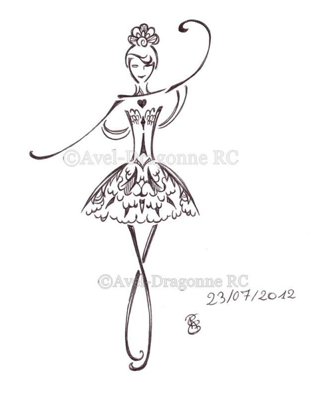 24 dessins de coloriage Danseuse à imprimer