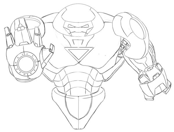 coloriage hulk buster à colorier dessin à imprimer