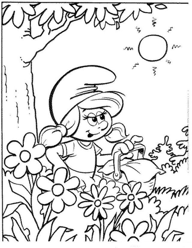 dessin à imprimer les schtroumpfs 25