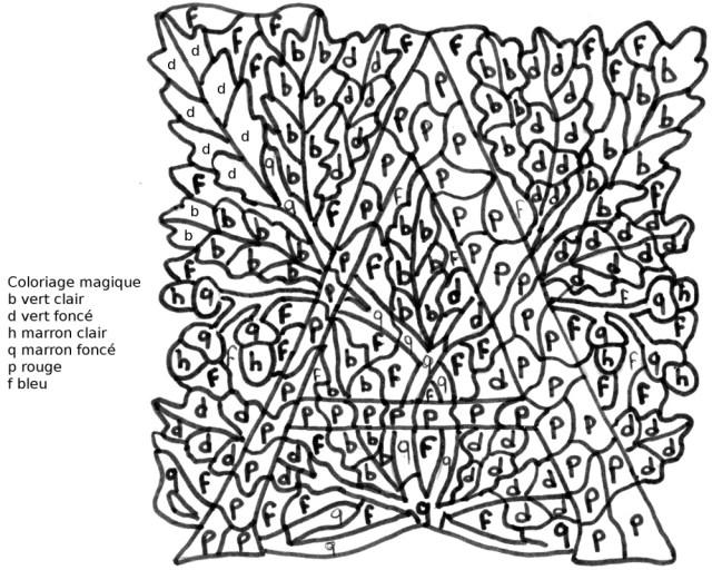dessin à colorier magique valeur lettre g