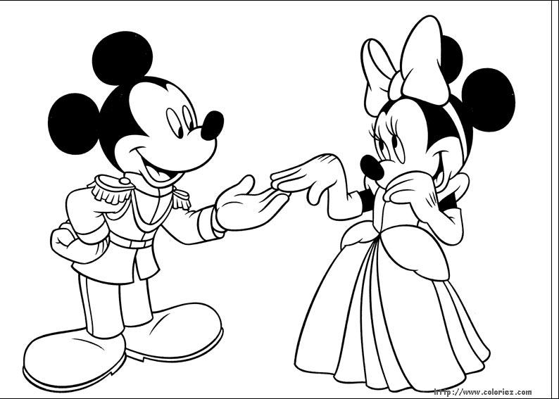 Dessin Mickey Minnie A Imprimer