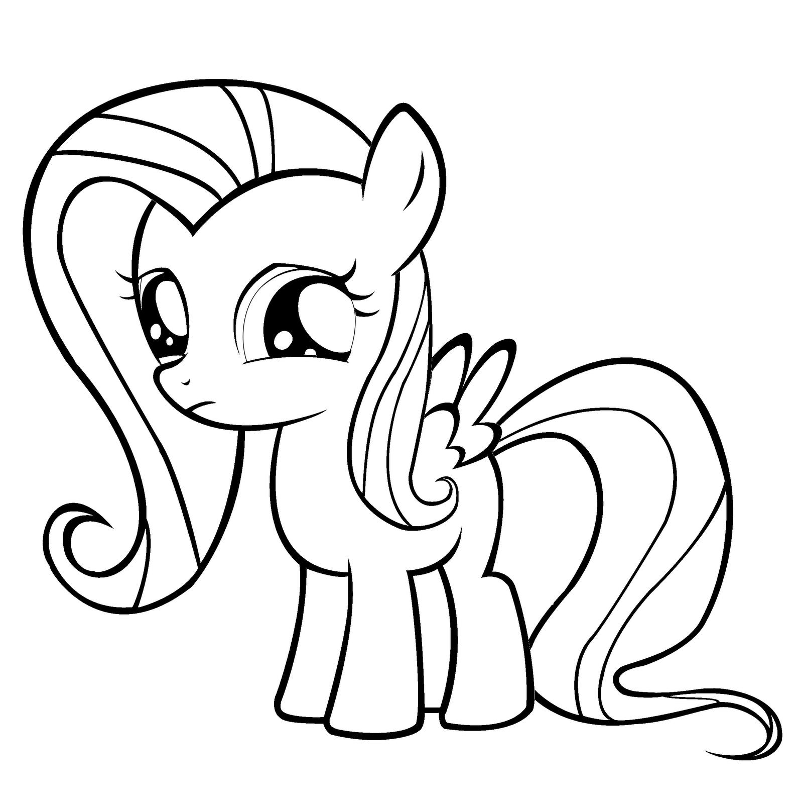 11 Dessins De Coloriage My Little Pony Fluttershy A Imprimer