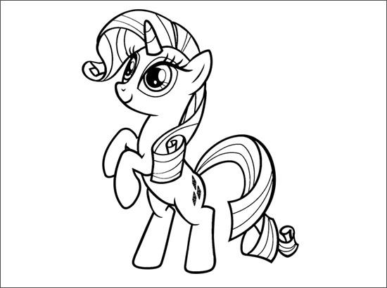 8 Dessins De Coloriage My Little Pony Rarity Imprimer