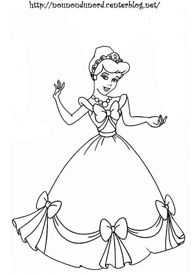 Coloriage19: coloriage de princesse en ligne