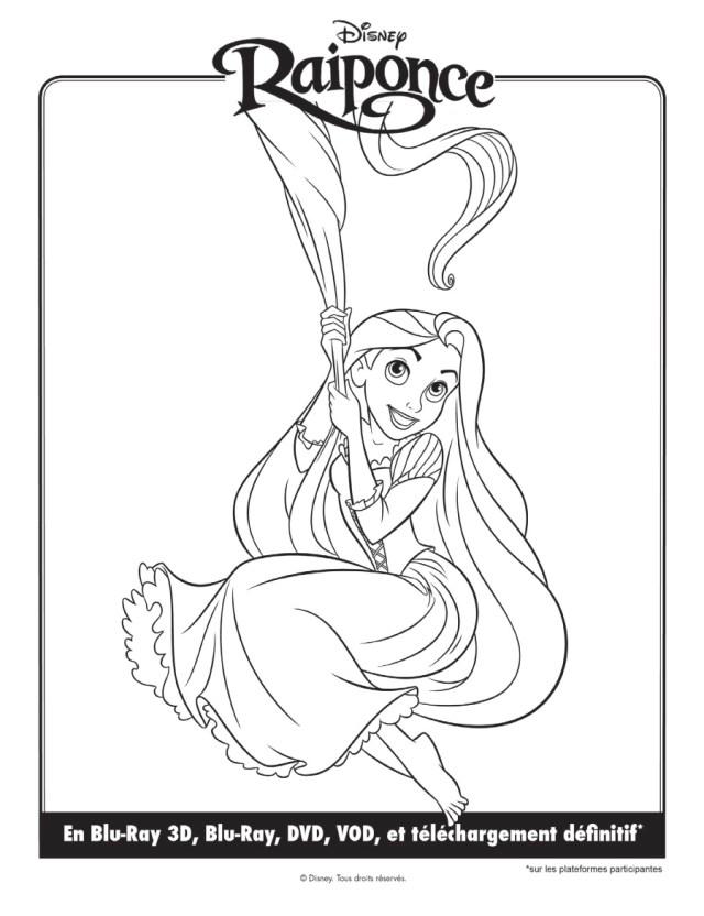 coloriage à dessiner raiponce gratuit en ligne