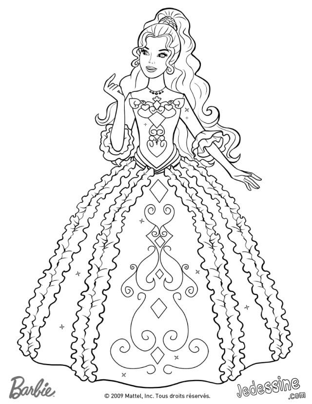 dessin à colorier raiponce avec modele