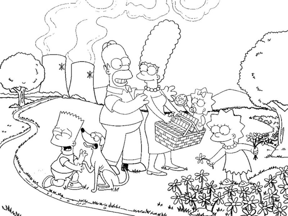 Dessin Simpson Imprimer Hugo Lescargot