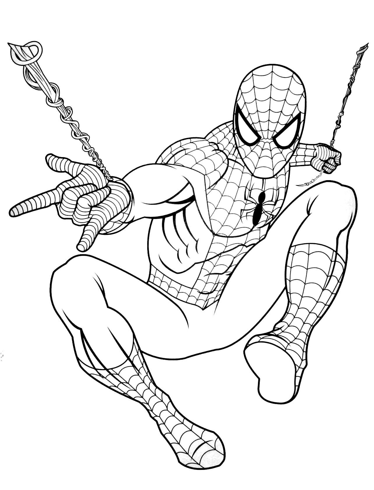 20 Dessins De Coloriage Spiderman Gratuit A Imprimer