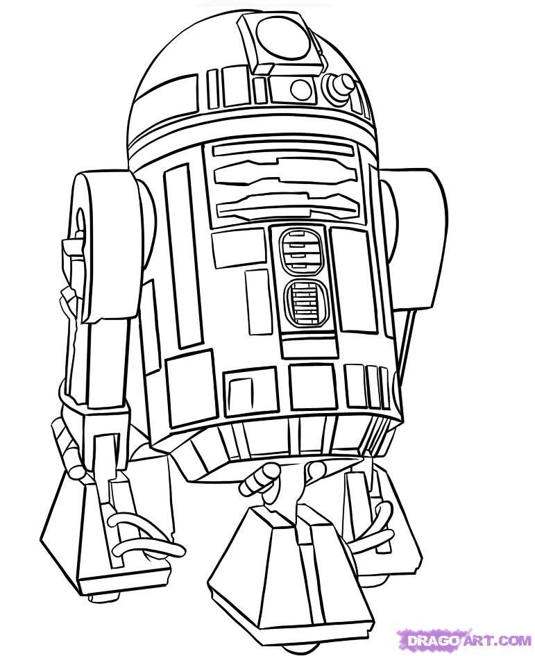 coloriage star wars à colorier dessin à imprimer