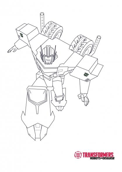 20 Dessins De Coloriage Transformers Robots In Disguise