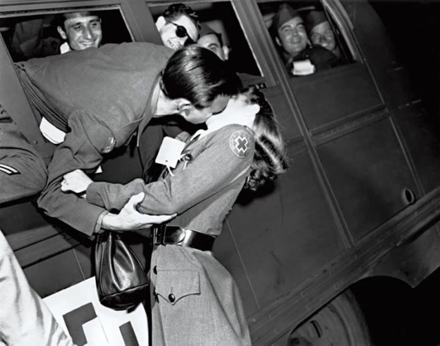 Soldier Kissing A Red Cross Nurse, 1945