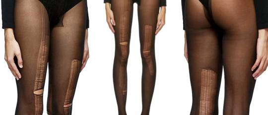 gucci ripped tights