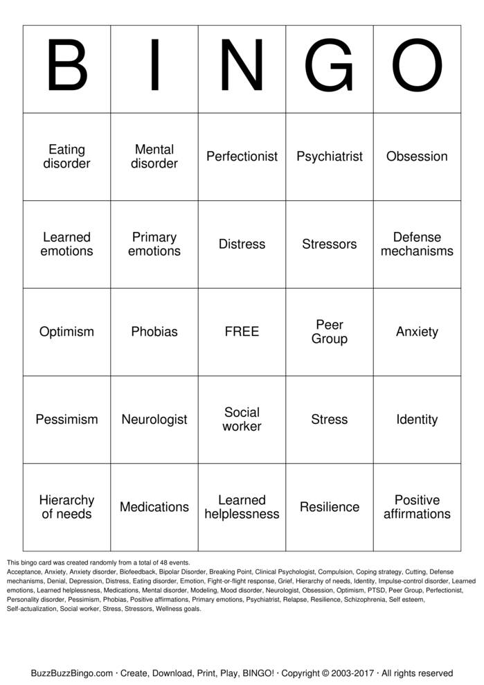 Affirmation Bingo Cards To Download Print And Customize