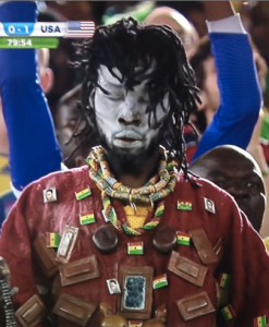 Why ESPN. Why would you show a witch doctor after what happened with Ronaldo?