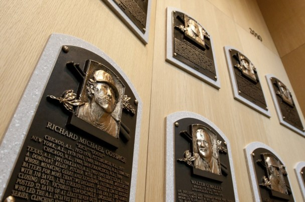 MLB hall-of-fame plaques