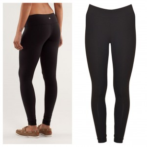 Two great pairs of leggings: Lululemon Wunder Under Pants (left); Willow & Clay (right)