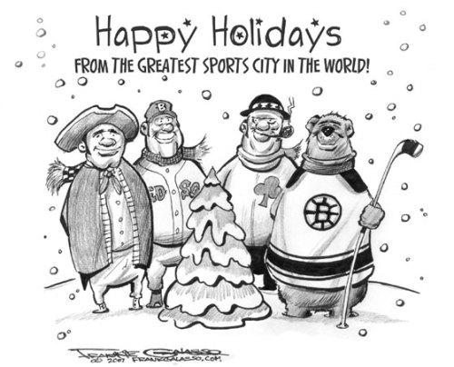 Boston sports Christmas