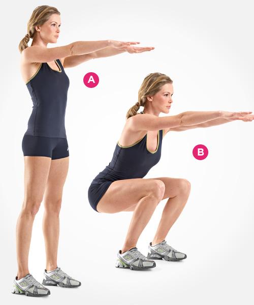 Suck That Gut body-weight-squat