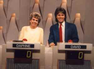 Daphne on the Australian set of Sale Of The Century (Seven Network)