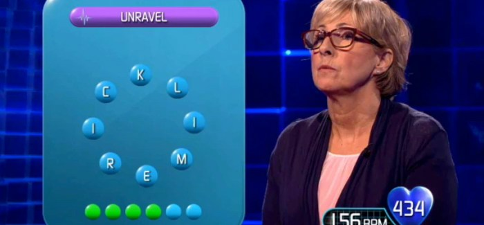 Video: Word Puzzle Busts Contestant on 1000 Heartbeats