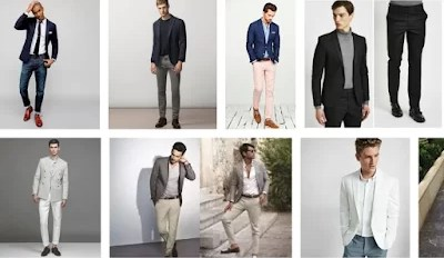 Blazer suits with jeans trousers for men