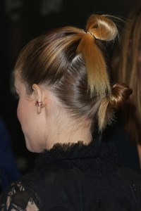 kate mara double top knot Hairstyle for ladies