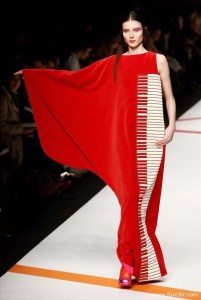 Gown With Piano Design