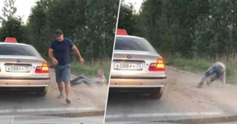 Taxi Driver Throws Passenger Out Of His Taxi For Littering