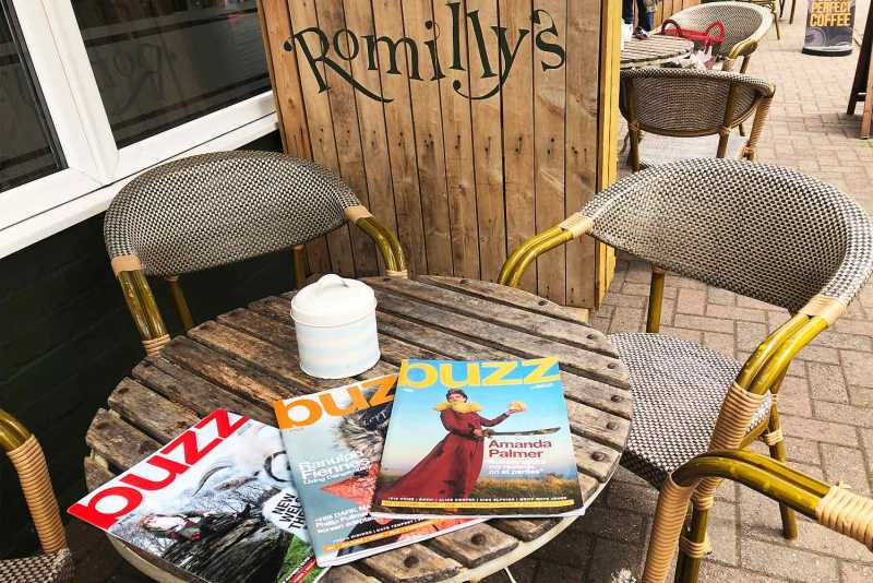 Buzz Magazine at Romilly's Cafe