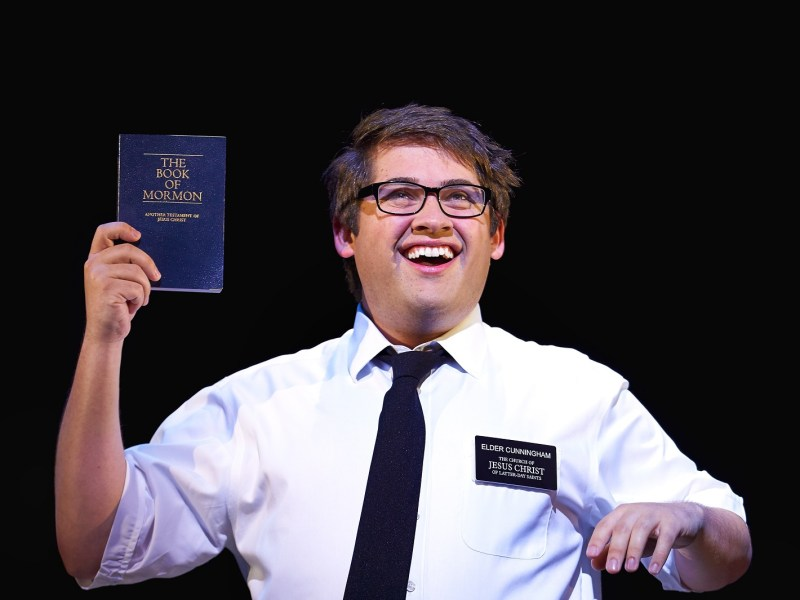 Conner Peirson in The Book Of Mormon - credit Paul Coltas