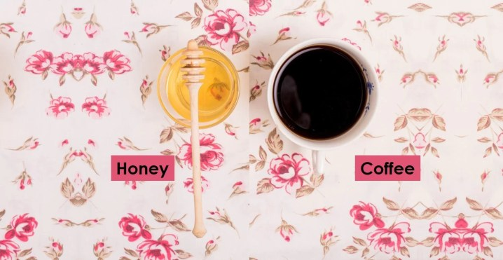 Remove tan with honey and coffee