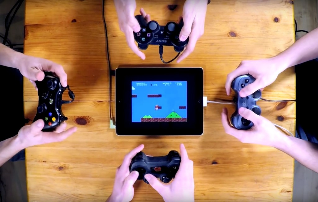 8bit retro songs played on gamepads