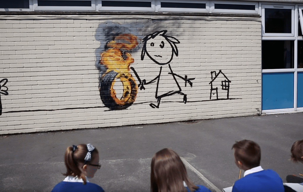 Banksy at Primary School in Bristol