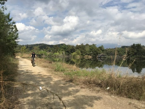 cycling at the lake | Buzzy Bee Bike, Chiang Mai, Thailand